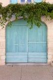 Puerta coloreada hermosa del garaje fotos de archivo