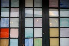 Puerta colorida del vintage Imágenes de archivo libres de regalías