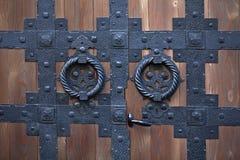 Puerta con bisagras Fotografía de archivo