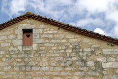 Puerta con el corazón Fotografía de archivo libre de regalías