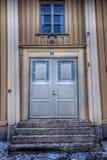 Puerta con el parteluz hermoso en mål de Å imagen de archivo