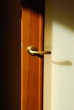Puerta con la maneta Fotografía de archivo libre de regalías