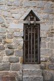 Puerta con las barras de hierro Imagen de archivo libre de regalías