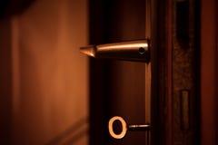 Puerta con llave Fotos de archivo