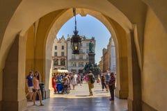 Puerta a Cracovia (Kraków) - Polonia imagen de archivo