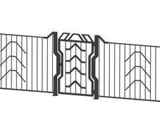 Puerta 3d Imágenes de archivo libres de regalías