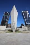 Puerta de Европа. Мадрид Стоковые Изображения RF