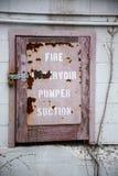 Puerta de acceso del fuego imagen de archivo