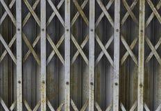 Puerta de acero Fotos de archivo libres de regalías