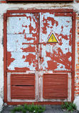 Puerta de acero Imagen de archivo
