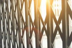 Puerta de acero Imagenes de archivo