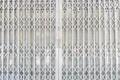 Puerta de acero blanca Foto de archivo libre de regalías