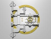 Puerta de acero de la cámara acorazada cerrada. Imágenes de archivo libres de regalías