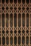 Puerta de acero del balanceo y puerta de madera Fotos de archivo libres de regalías