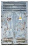 Puerta de acero oxidada del vinage imagen de archivo libre de regalías