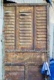 Puerta de acero oxidada vieja Fotografía de archivo