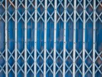 Puerta de acero vieja de la diapositiva Imágenes de archivo libres de regalías