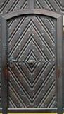 Puerta de acero y de madera Fotos de archivo libres de regalías