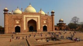 Puerta de Agra el Taj Mahal Imágenes de archivo libres de regalías