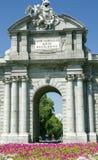 Puerta de Alcalá, Мадрид Стоковое Изображение RF