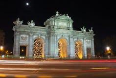 Puerta de Alcalá, Мадрид Стоковые Фотографии RF