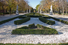 Retiro Park in Madrid. Stroll statues Retiro Park in Madrid Stock Photos