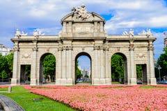 Puerta de Alcalá of Spain Royalty Free Stock Images