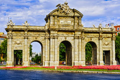 Puerta de Alcalá of Spain Stock Photography