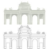 PUERTA DE ALCALÀ, Madrid Royalty-vrije Stock Afbeeldingen