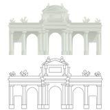 PUERTA DE ALCALÀ, Madryt Obrazy Royalty Free
