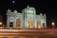 Puerta DE Alcalá, Madrid Royalty-vrije Stock Foto's