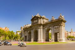 Puerta de Alcal stock photography