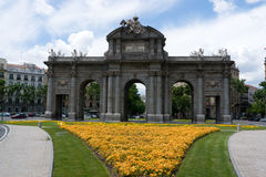 Puerta de Alcala à Madrid Photo libre de droits