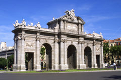 Puerta de Alcala à Madrid, Espagne Image stock
