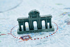 Puerta de Alcala à Madrid, Espagne photo stock