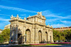 Puerta de Alcala, μια από τις αρχαίες πύλες στη Μαδρίτη, Ισπανία Στοκ Εικόνες