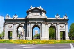 Puerta de Alcala, Мадрид Стоковые Изображения