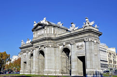 Puerta de Alcala. Alcala gate in Madrid Stock Photo