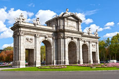 Puerta de Alcala (Alcala Gate) in Madrid Royalty Free Stock Photos
