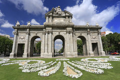 Puerta de Alcala & x28;Alcala Gate& x29; in Madrid Stock Photo
