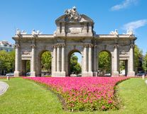The Puerta de Alcala or Alcala Gate in Madrid, a symbol of the city Royalty Free Stock Photo