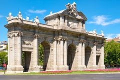 The Puerta de Alcala or Alcala Gate in Madrid, a symbol of the city Stock Images