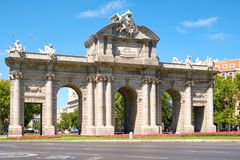 The Puerta de Alcala or Alcala Gate in Madrid, a symbol of the city Royalty Free Stock Image