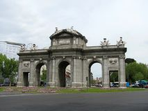 The Puerta de Alcala Alcala Gate is a monument in the Independence Square stock image