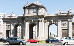 Puerta de Alcala/Bogenseite Stockfotografie