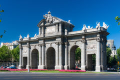 Puerta de Alcala in central Madrid, Spain Royalty Free Stock Image