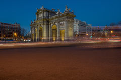 Puerta de Alcala da sundawn Fotografie Stock Libere da Diritti