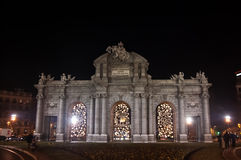 Puerta de Alcala en Madrid Foto de archivo libre de regalías