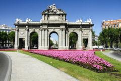 Puerta de Alcala en Madrid, España Fotografía de archivo