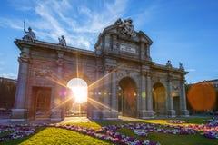 Puerta de Alcala located at Madrid Stock Photography